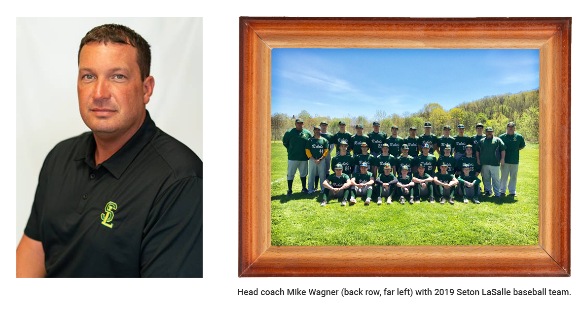 Mike Wagner Seton Lasalle baseball team